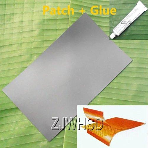23,9x 35,6cm (24x 36cm) schwarz PVC Patch + Kleber für aufblasbare Boot Raft Kajak Kanu Wasser Toy Repair Abbott