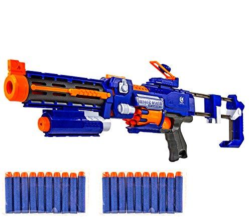 (Nerd Clear Spielzeug-Gewehr Elektrisches Maschinen-Gewehr Pfeilgewehr Dart AEG Soft-Air Air-Soft Waffe 6 Jahren)