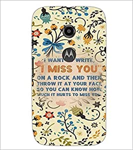 PrintDhaba Quote D-3684 Back Case Cover for MOTOROLA MOTO E2 (Multi-Coloured)