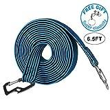 LuTuo - Corda elastica, regolabile, con gancio in acciaio al carbonio, per attività all'aperto, chiusura bagagli e zaini, 2 lunghezze disponibili, 4 colori disponibili, Uomo, 2M-Blue
