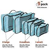 Wonder Worker TRIP 5 Pezzi Cubi da Imballaggio Set da Viaggio per Organizzare le Valige