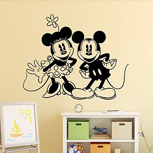 Xingbuxin mouse personalizzato camera da letto nursery decorazione wall art decal wall art sticker murales art decoration fai da te home decor nero l 74cm x 92cm