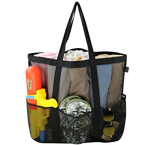 Bolsa grande de malla de playa