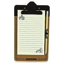 Emma Bridgewater Black Scroll Magnetic Notepad & Pencil
