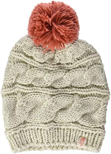 THE NORTH FACE Damen Triple Cable Mütze, Wild Oat Heather/Faded Rose, One Size - North Für Mützen Frauen Face