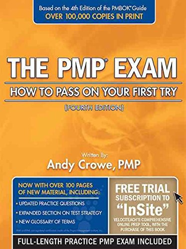Portada del libro [(PMP Exam : How to Pass on Your First Try)] [By (author) Andy Crowe] published on (April, 2009)