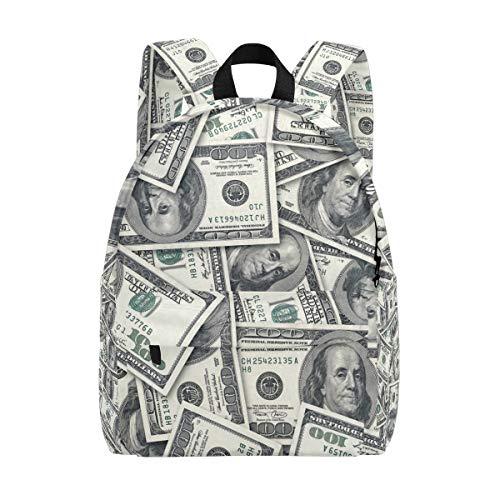 BENNIGIRY Dollar Cash Flow Green Schulrucksack, leicht, Elementarbuch-Tasche für Jungen Mädchen Kinder