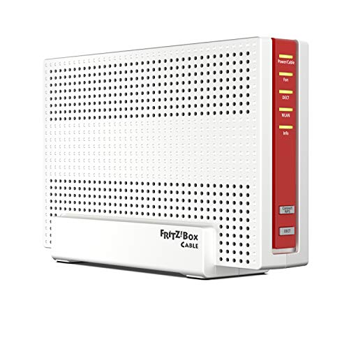 AVM Fritz!Box 6591 Cable WLAN AC + N Router (DOCSIS-3.1-Kabelmodem, Dual-WLAN Ac+N (MU-MIMO) mit 1.733 (5 GHz) + 800 Mbit/S (2, 4 GHz), VoIP-Telefonanlage)