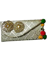 Kavish Creation Stylish Party Wear Envelope Clutch For Women, Grey (KCL- 11)