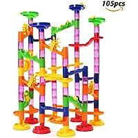 FUNTOK, circuit de billes, labyrinthe à billes, toboggans à billes, jeu de construction pour enfants, 105 pièces