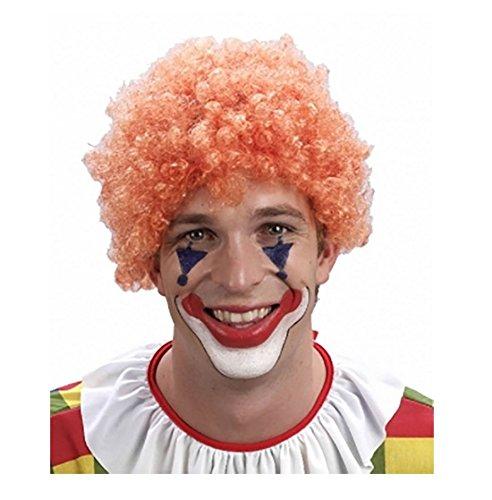 Islander Fashions Adult Clown Orange Afro per�Cke Unisex Kost�m Circus Party Wear Zubeh�r Einheitsgr��e