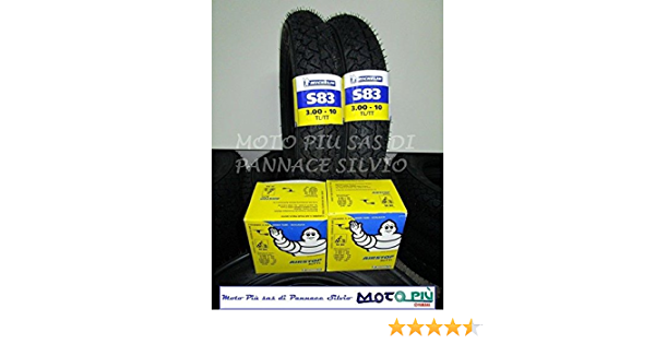 Paar Reifen Reifen Michelin S83 3 00 10 Luftkammern Vespa Pk 50 125 Xl Hp Auto