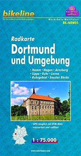 Radkarte Dortmund u. Umgebung 1:75.000, wasserfest und reißfest, GPS-tauglich mit UTM-Netz (Bikeline Radkarte)