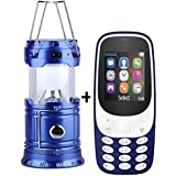 I KALL K3310 (Dark Blue) Dual Sim 1.8 Inch Display Mobile With Solar Powered LED Rechargeable Lantern With Three Way Power Option - Solar Power Or AABatteries Or AC Power(Blue)