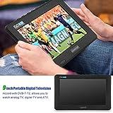 Tragbarer HD TV,Digital Multimedia Player DVB-T/T2 HD Analog Fernseher DVD Player Monitor Bildschirm,10 inch,unterstützt TF Card USB und Audio, für zu Hause, Auto, Urlaub Camping (Eu)