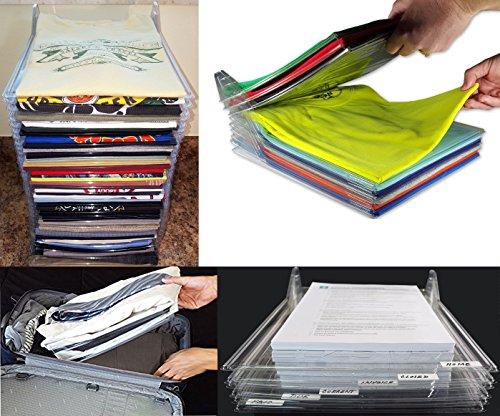 takestop Juego 10piezas Organizador ezstax para vestidos armario ofi