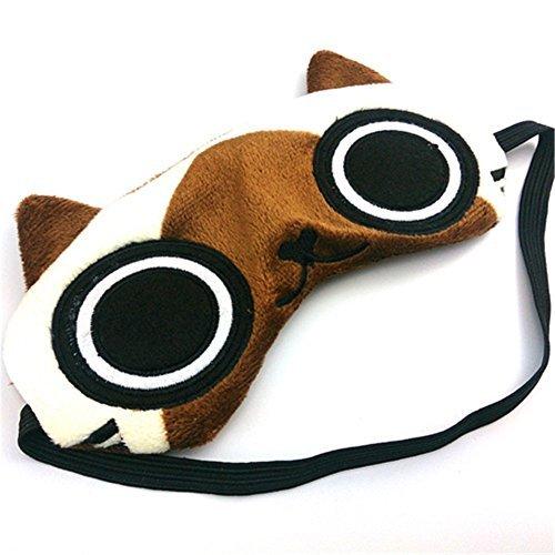 Aluckyday Monster Hunter Airou Airu Cat Plush Eye Mask Sun-shade Eye Mask for Sleeping by Eye Mask