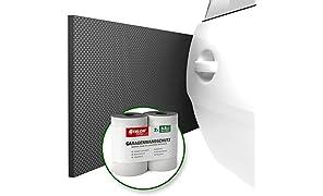 ATHLON TOOLS Premium Garagen-Wandschutz | je 2 m lang | Extra Dicker Auto Türkantenschutz | Selbstklebend | Wasserabweisend | 2er Set (Schwarz)