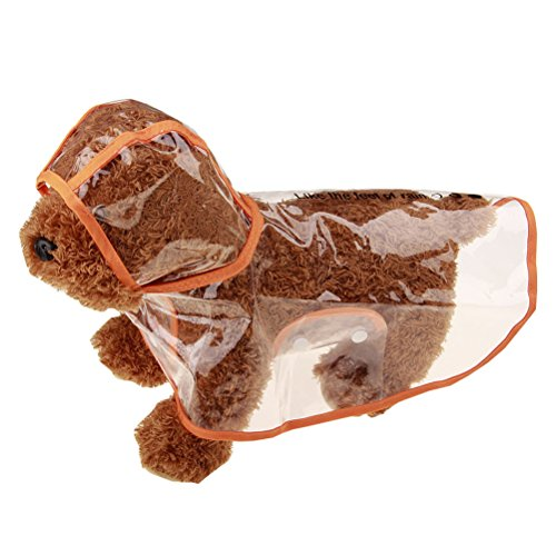 Zhhlinyuan Mascota Chubasquero Perro Transparente