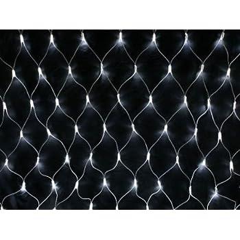 105 Led Outdoor Net Lights Solar Powered White Garden Fairy String