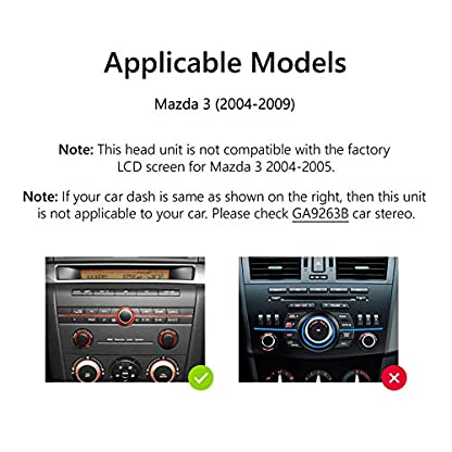 eonon-GA9351-fit-Mazda-3-2004-2009-Android-9-2G-RAM-32G-ROM-Quad-Core-178-cm-7-Zoll-LCD-Touchscreen-Auto-DVD-GPS-USB-FM-RDS-kompatibel-mit-Bose-System-untersttzt-Bluetooth-4G-WiFi