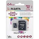 Ridata Micro SDXC 64GB para Smartphone Tablet cámara GoPro GPS PDA MP3MP4