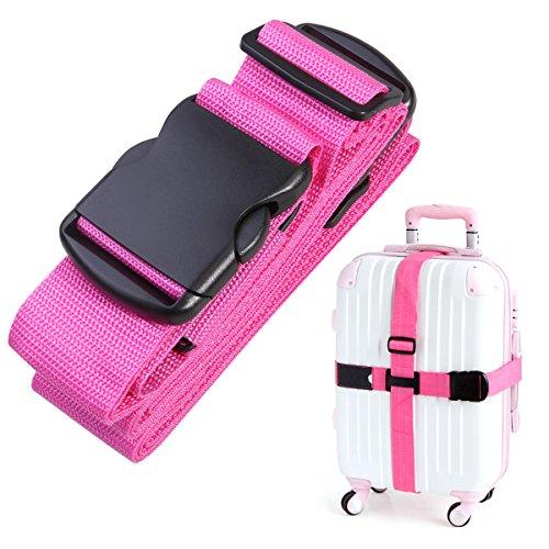 NUOLUX Gepäckgurt Kofferband Rutschfest Kreuz Gepäck Strap(Rosy)