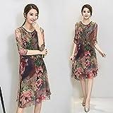 XIU*RONG Sommer Seidenkleid Weiblichen Maulbeerseide Lose Kleid 2 Xl Farbe