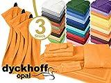 Frottiertücher der Serie Opal - erhältlich in 33 modernen Farben und 7 verschiedenen Größen -Markenqualität von Dyckhoff, 1 Pack (3 Stück) - Gästetücher [30 x 50 cm], sonne