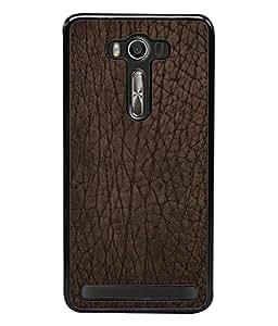 Fuson Designer Back Case Cover for Asus Zenfone 2 Laser ZE550KL (5.5 Inches) (Pure Leathered Brown Color Girl Boy College)
