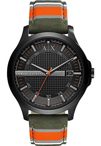 Armani Exchange-Uhr-Grà ¼ n/Orange/Grau/Weiss
