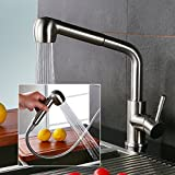 Homelody Wasserhahn mit Ausziehbar Brause Küchenarmatur Spültischarmatur Mischbatterie Armatur für Küche