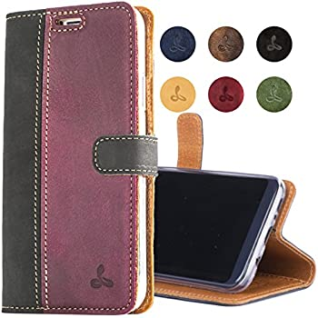a491937a2dcf Snakehive SAMSUNG GALAXY S8 PLUS Case, Genuine Leather Wallet with Viewing  Stand and Card Slots, Flip Cover Gift Boxed and Handmade in Europe for  SAMSUNG ...