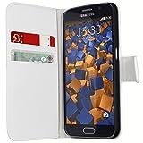 mumbi Tasche im Bookstyle für Samsung Galaxy S6 / S6 Duos Tasche weiss