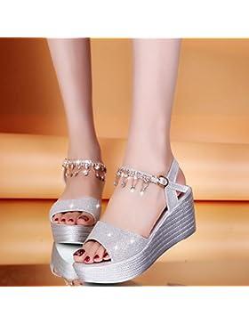 SDKIR-Filippine con sandali, femmina estate a tacco alto spessore impermeabile desktop sandali, acqua di perforazione...