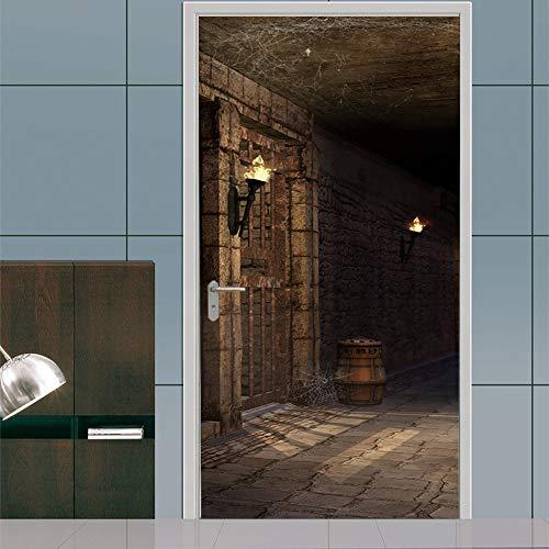 Dungeon Dekorationen - QMTZDQ Türtapete Kreative Dungeon Tür Aufkleber