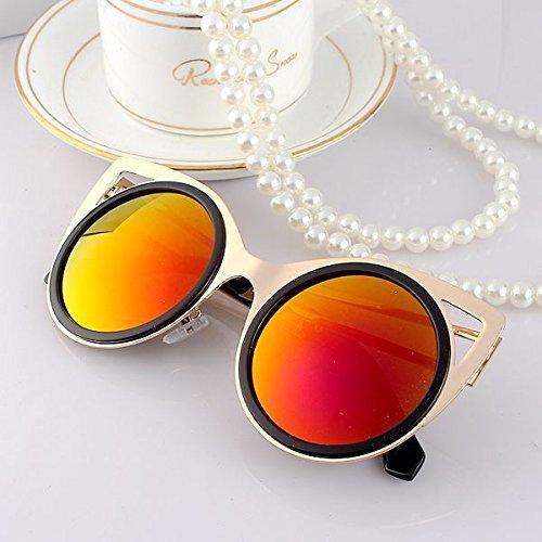Sunyan Neuen Koreanischen gestylte Sonnenbrille, Frau boomers, runde Sonnenbrille, Brille, Augen, Augen, rote Quecksilber (Augen Brille Rote Frau)