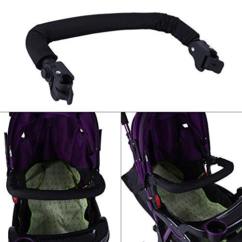 Zerodis Adjustable Carriage Baby Stroller Handle Bar Handlebar Newborn Infant Pram Armrest Bumper Bar Cart Accessories  Zerodis