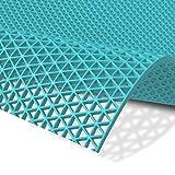 Hygienematte Z-Mat | viele Größen | stark rutschhemmend | für Nassbereiche und Arbeitsplätze | Türkis - 120x150 cm