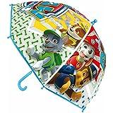 + paraguas PAW PATROL 46cm, modelo nuevo!! personajes de serie TV, transparente dibujos grandes, y salvamantel paw patrol