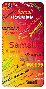 Samali (Bouquet) Name & Sign Printed All over customize & Personalized!! Protective back cover for your Smart Phone : Moto G-4-PLAY