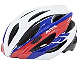 ALPINA, Casco da ciclismo Cybric, Multicolore (White/Blue/Red), 53-57 cm