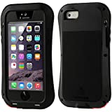FUNDA ORIGINAL LOVE MEI POWERFUL DE ALUMINIO PARA EL IPHONE 5 Y 5S - NEGRO -