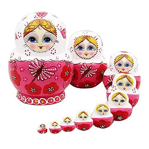 Trayosin 10st 15cm Matryoshka Russische Puppen Klassische Hand -