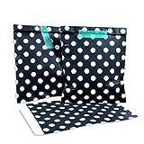 100 Frau Wundervoll Papiertüten - schwarz mit weißen Punkten - (Vorteilsmenge) / Geschenktüten / Candy Paper Bags