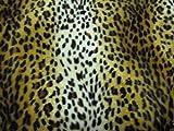 Leopard hell Fell Stoff Kunstfell Meterware Tierfell Fellstoff Velboa Fellimitat