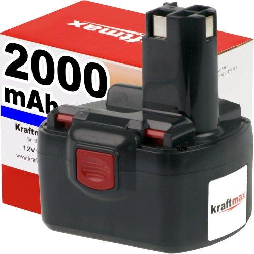 Preisvergleich Produktbild Kraftmax 12V Akku für BOSCH - 2000mAh / NI-CD - PSR 12VE-2 / GSR12-2 / GSR 12VE-2 / 2607335526 / 2607335274 / 2607335531 / 2607335261 / A29113S / 12 V