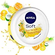 NIVEA Soft, Light Moisturising Cream, Tropical Fruit, 200ml