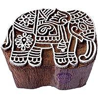 Royal Kraft Handgeschnitzt Elefant Tier Motif Hölzern Stempel für Drucken