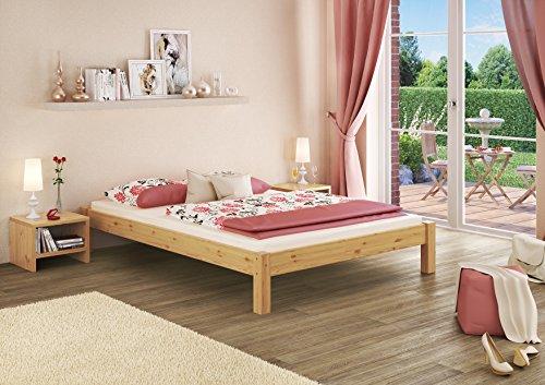 Erst-Holz 60.35-14 Futonbett mit Rollrost – 140×200 – Massivholz Natur